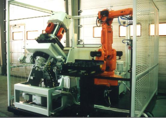 Machine à laver dans enceinte FMS Flexible manufacturing system
